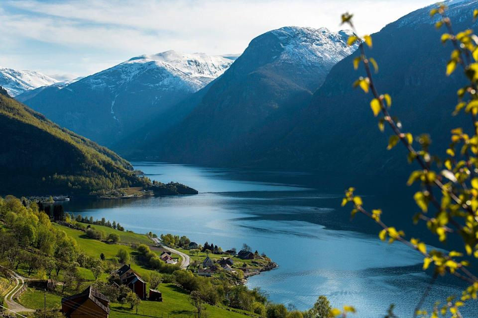 The Aurland Fjord in Norway