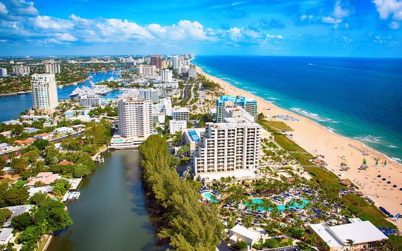 Fort Lauderdale is on the south-east coast of Florida, about 30 miles north of Miami - This content is subject to copyright.