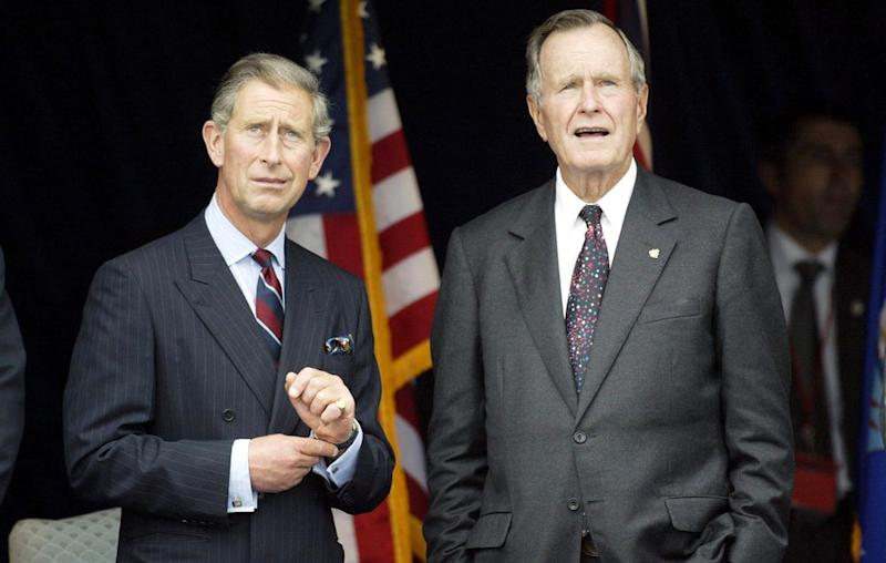 Prince Charles and George H.W. Bush in September 2002