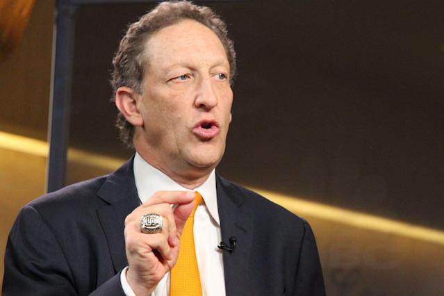 """<a class=""""link rapid-noclick-resp"""" href=""""/mlb/teams/san-francisco/"""" data-ylk=""""slk:Giants"""">Giants</a> CEO Larry Baer is under scrutiny after he was caught on video pulling his wife Pam to the ground. (Photo by: Justin Solomon/CNBC/NBCU Photo Bank via Getty Images)"""