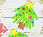 "<p>Use one, two, or even more kid handprints to make this Christmas tree card craft. Decorate with colorful buttons — or any other object you prefer — for an eye-catching keepsake sure to be cherished.</p><p><em><a href=""https://kidscraftroom.com/handprint-christmas-tree-cards/"" rel=""nofollow noopener"" target=""_blank"" data-ylk=""slk:Get the tutorial at Kids Craft Room»"" class=""link rapid-noclick-resp"">Get the tutorial at Kids Craft Room»</a></em><br></p>"