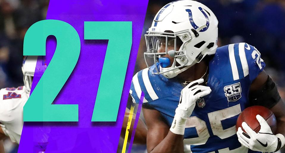 <p>Marlon Mack had a career day, with 126 yards and a touchdown on 19 carries against a good Bills defense. It'll be important for Indy to see which young players emerge the rest of the way. (Marlon Mack) </p>