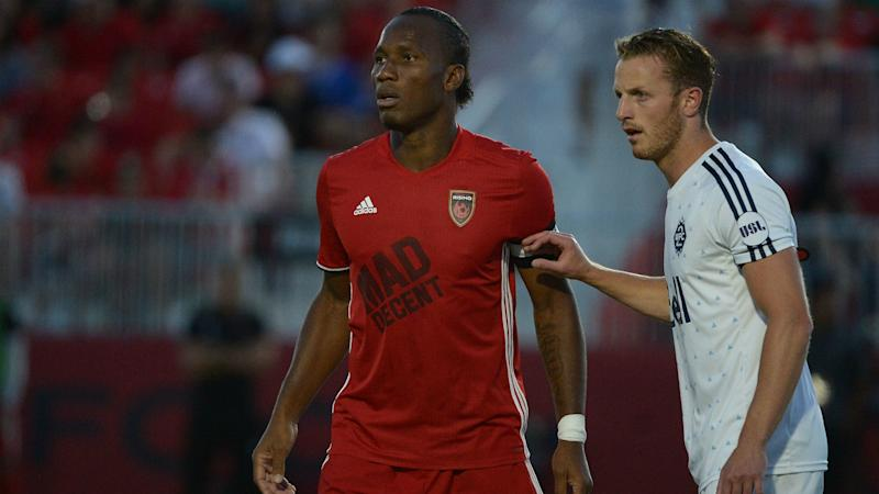 World soccer star Drogba scores in debut with American side