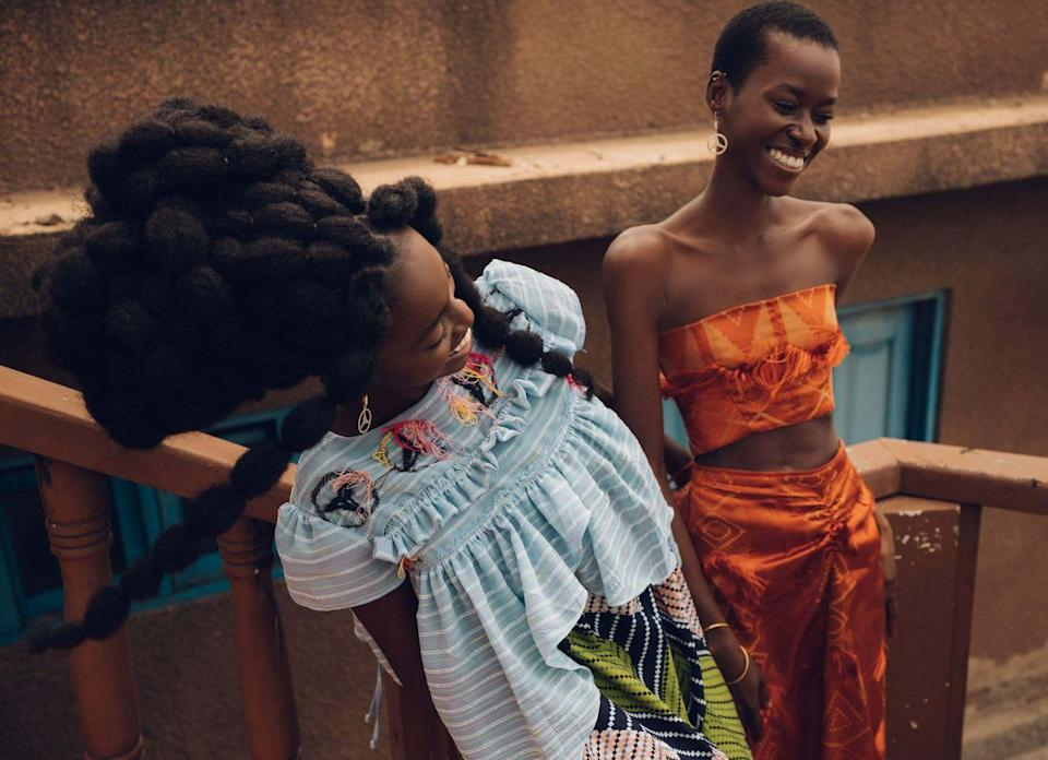 <p>Womenswear designer Chloe Asaam fuses Ghanaian symbolism with technology by incorporating QR codes into her garments, which tell their story. Enamoured with matriarchal figures from the Ashanti region, she shot the collection on her aunts and grandmother.</p>