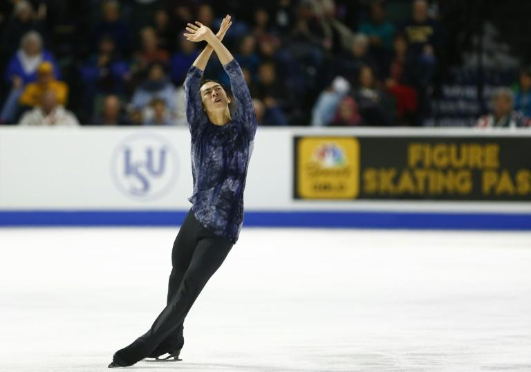 American Nathan Chen competes in the men's free skate en route to the 2018 Skate America Grand Prix title