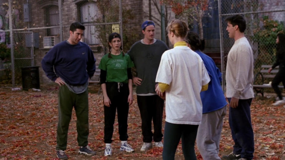 <p> One of the show&#x2019;s many&#xA0;Thanksgiving episodes, this one is notable for really showing the historical rivalry between Ross and Monica. The guys are inspired to play some football after watching the NFL over the holiday, and it quickly ends up being a contest between the siblings, who will employ any kind of dirty trick to win. There&#x2019;s a side-plot where Joey and Chandler become obsessed with a Dutch girl, but that feels a lot like lazy (and pretty inaccurate) stereotyping when watched in 2018. </p> <p> <strong>Best line:&#xA0;</strong>Monica: Are we playing football or what? Come on you hairy-backed Marys! </p>