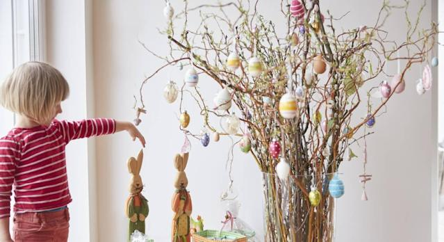 This indoor Easter tree is the spring version of a Christmas one. (Getty Images)