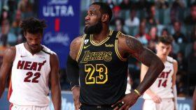 Lakers star LeBron James vs. Heat in Game 5 of NBA Finals