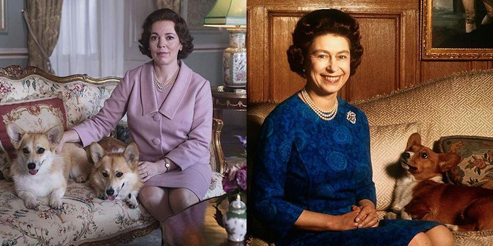 <p>Colman took over for Claire Foy as Queen Elizabeth II for the third season of <em>The Crown</em>. The actress won a Golden Globe for Best Actress in a TV Drama for the part.</p>