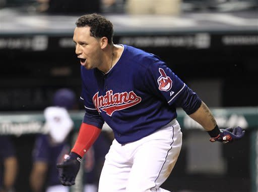 Cabrera's 2-run HR in 10th lifts Indians past Reds