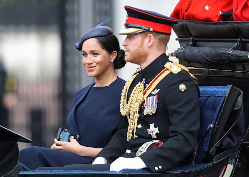 Meghan Markle and Prince Harry at Trooping the Colour. [Photo: Getty]