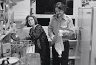 """<p>Camilla and Earl McGrath cleaned up after the Rolling Stones party in their N.Y.C. apartment in 1975. """"Earl was very good-looking, in a very specific, kind of Oklahoma way,"""" says writer Fran Lebowitz, a frequent guest. """"He was obviously extremely exotic to someone like Camilla. She instantly fell mad in love with him and stayed that way.""""</p>"""