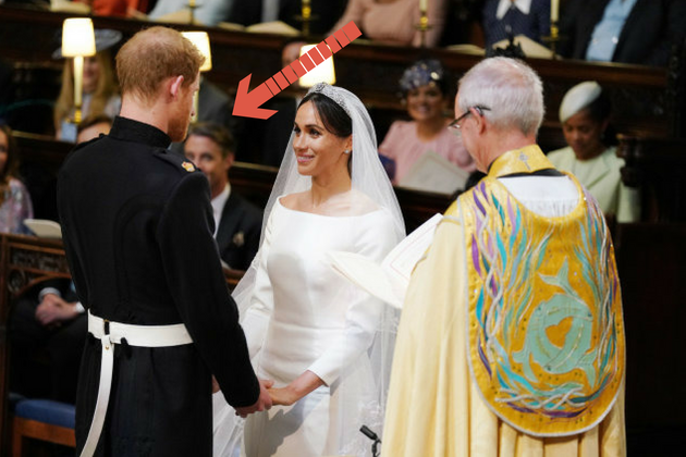 Prince Harry and Meghan Markle during their wedding service on May 19.