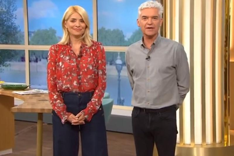 Celebration: Holly Willoughby gushed over the news of the new Prince's birth: ITV / This Morning