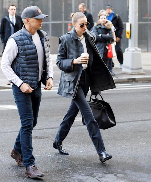 US model Gigi Hadid (R) arrives to New York State Supreme Court to be vetted for the jury for the trial of former Hollywood producer Harvey Weinstein in his sexual assault trial in New York, New York, USA, 16 January 2020. Hadid was was not put on the jury for the trial, which is expected to last for about eight weeks and is based on sexual assault and rape allegations of two separate women. EFE/EPA/JUSTIN LANE