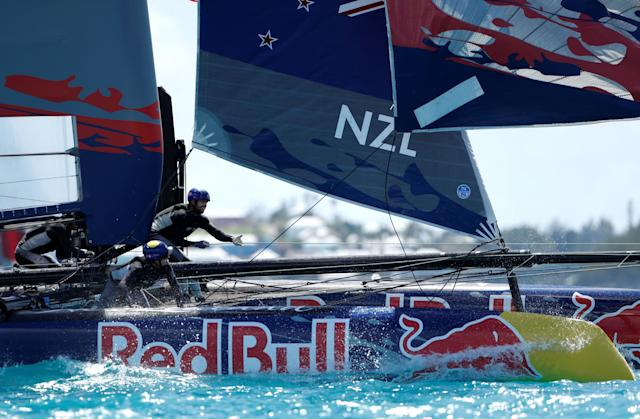 Sailing - Youth America's Cup finals - Hamilton, Bermuda - June 21, 2017 - NZL Sailing Team (New Zealand) competes in the Youth America's Cup finals. REUTERS/Mike Segar