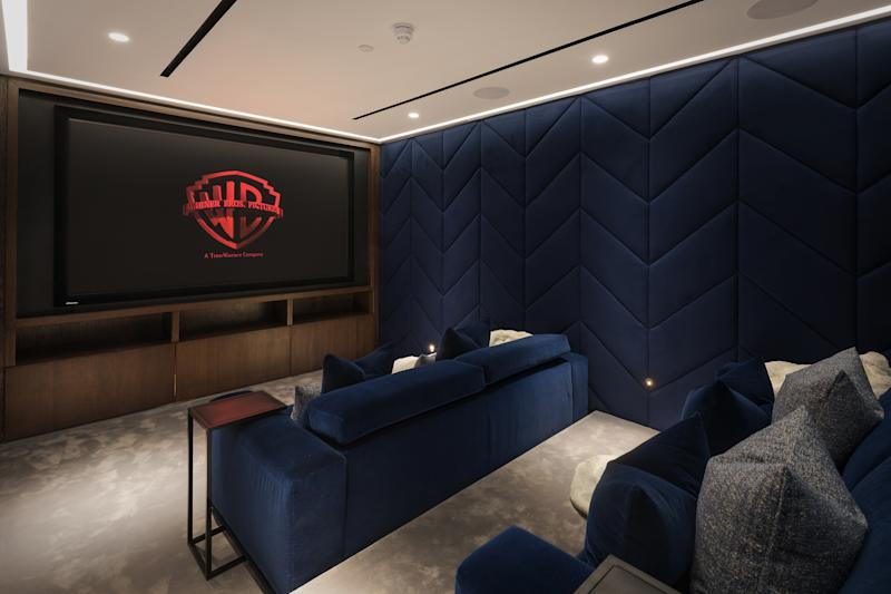 The property boasts a private cinema, along with a gym and spa. Photo: Alex Lawrie/LC