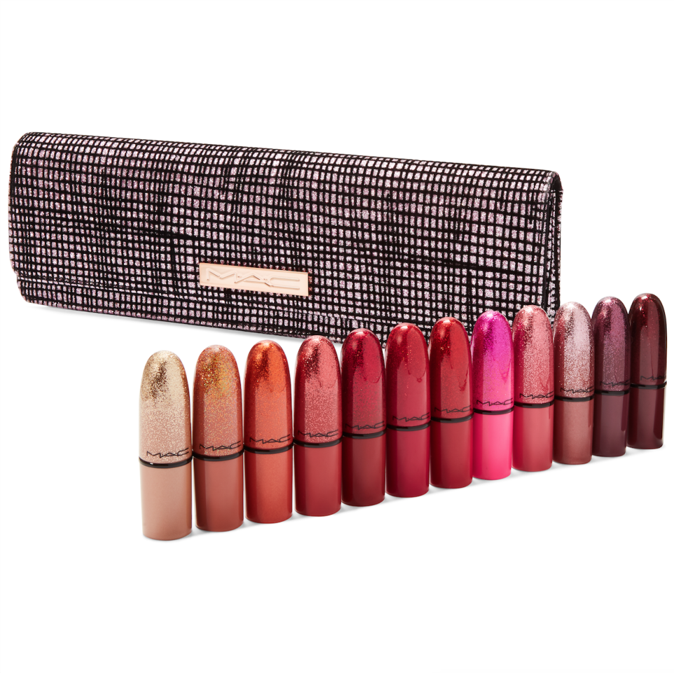 """<strong>What It Is:</strong>12 mini versions of M.A.C Cosmetics' cult lipstick shades, including Candy Yum Yum and Ruby Woo.  <strong>Who Will Love It:</strong> The lipstick collector.  <strong>Buy It!</strong><a href=""""https://click.linksynergy.com/deeplink?id=93xLBvPhAeE&mid=3184&murl=https%3A%2F%2Fwww.macys.com%2Fshop%2Fproduct%2Fmac-13-pc.-taste-of-stardom-mini-lipstick-set%3FID%3D9985023&u1=PEO%2CHolidayGiftGuide2019%3ATheMostGlamGiftstoGetYourBeauty-ObsessedFriends%2Ckaitlynfrey%2CUnc%2CGal%2C7362727%2C201911%2CI"""" target=""""_blank"""" rel=""""nofollow"""">M.A.C Cosmetics Taste Of Stardom Mini Lipstick Set, $74.50 ($168 value); maccosmetics.com</a>"""