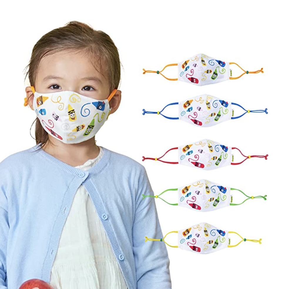 The best face masks for kids in Canada: Crayola Kids Face Mask Set (Photo via Amazon)