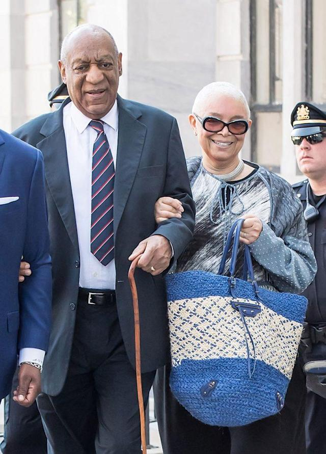 <em>Actor Bill Cosby and wife Camille Cosby arrive at the Montgomery County (Pa.) courthouse on June 12, 2017 [Photo: Gilbert Carrasquillo/WireImage]</em>