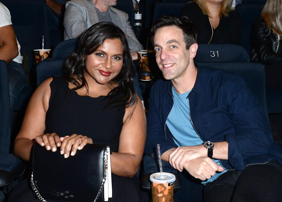 "Mindy Kaling dished to designer Tory Burch about her plans for Christmas this year – which includes friend and former ""The Office"" co-star B.J. Novak dressing up as Santa Claus to surprise her daughter."