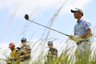 Cloud nine: Collin Morikawa moved to nine under par on his British Open debut