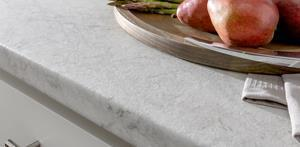 The Fieldstone finish of the new HPL Stone collection features a less reflective textured matte sheen than other stone surfaces, providing a more casual look with authentic features and veined detailing.