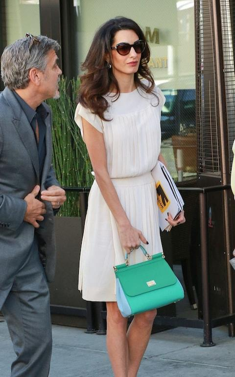 Amal Clooney carries a Dolce & Gabbana bag