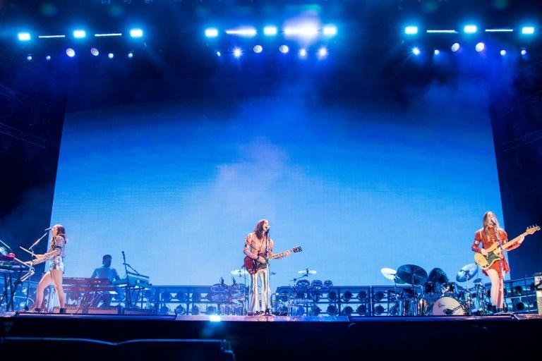 The Californian sister group Haim, performing here at the Coachella festival in 2018, are up for a rock Grammy along with Album of the Year