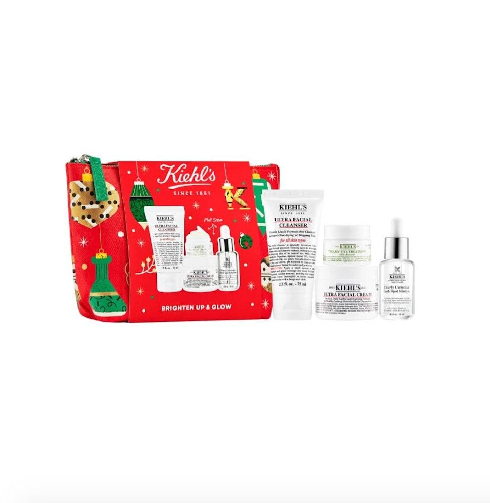 "$99, Nordstrom. <a href=""https://www.nordstrom.com/s/kiehls-since-1851-brighten-up-glow-set-usd-132-value/5690373?origin=category-personalizedsort&breadcrumb=Home%2FSale%2FBeauty&color=none"" rel=""nofollow noopener"" target=""_blank"" data-ylk=""slk:Get it now!"" class=""link rapid-noclick-resp"">Get it now!</a>"