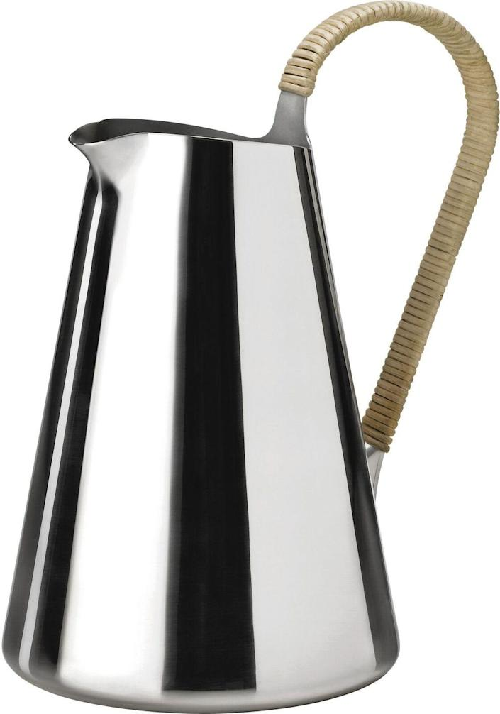 """Made of stainless steel with a dramatic rattan-wrapped handle, this Danish-designed jug will elevate your serveware. $135, Amazon. <a href=""""https://www.amazon.com/Stelton-Freja-Jug-Stainless-Steel/dp/B00MZ1L19G"""" rel=""""nofollow noopener"""" target=""""_blank"""" data-ylk=""""slk:Get it now!"""" class=""""link rapid-noclick-resp"""">Get it now!</a>"""