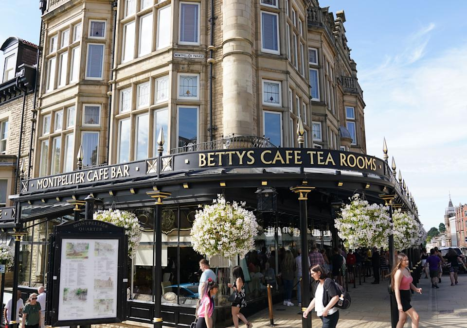 A general view of Betty's Cafe Tea Rooms in Harrogate Town.