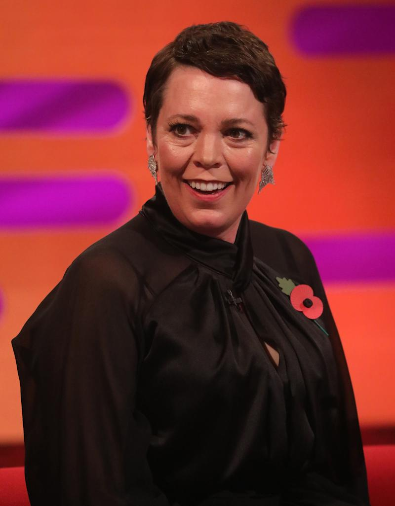 Olivia Colman on The Graham Norton Show (Photo: Isabel Infantes - PA Images via Getty Images)