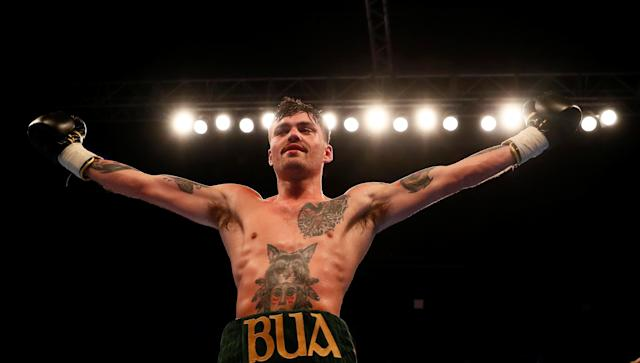 Boxing - Tyrone McKenna v Anthony Upton - SSE Arena, Belfast, Britain - April 21, 2018 Tyrone McKenna celebrates winning his fight against Anthony Upton Action Images via Reuters/Jason Cairnduff