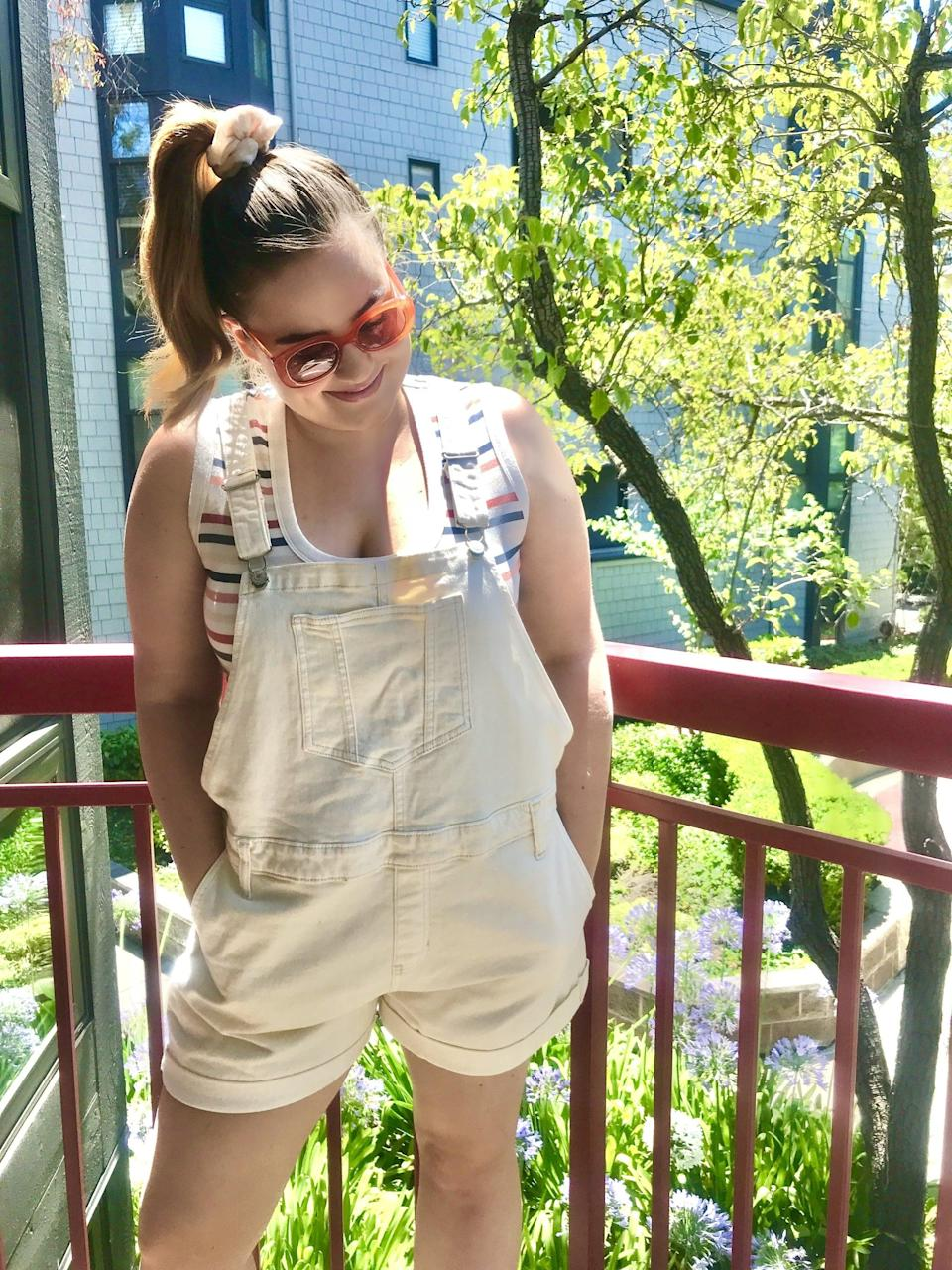 "<p><strong>The item:</strong> <span>Old Navy Off-White Jean Shortalls</span> ($32, originally $45)</p> <p><strong>What our editor said:</strong> ""Not only are they ridiculously comfy, they are also easier to wear when running errands or doing home improvements. I feel like I can move around in them without any restrictions. I also appreciate that they have tons of pockets (yay for not carrying a purse!) and the denim is soft, not rigid. They're available in sizes XS to XXL (I take the large, for reference) and the straps are adjustable. I just throw on a T-shirt or tank top underneath and I'm ready to go. I've even been using these overall shorts as a swimsuit cover-up sometimes."" - MCW</p> <p>If you want to read more, here is the <a href=""https://www.popsugar.com/fashion/most-comfortable-overall-shorts-47596470"" class=""link rapid-noclick-resp"" rel=""nofollow noopener"" target=""_blank"" data-ylk=""slk:complete review"">complete review</a>:</p>"