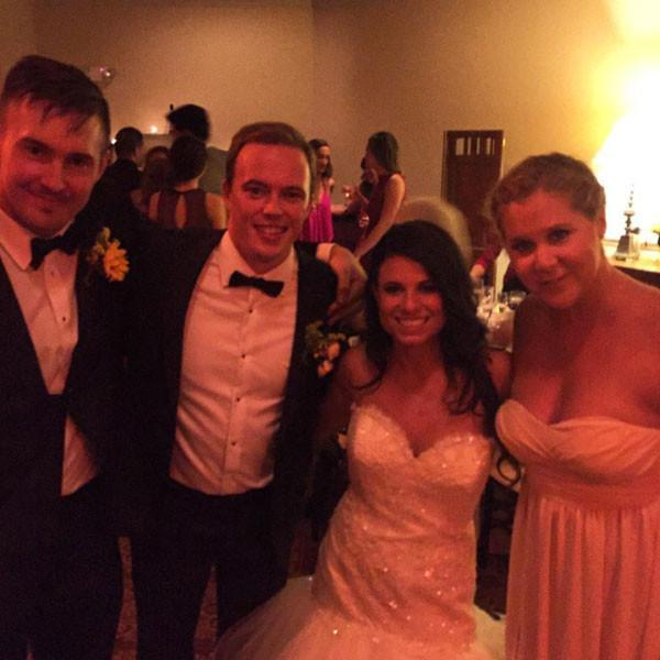 <p>J.Law's bestie Amy has also been a bridesmaid! The comedian stood up for pal Tara Alana in a similar strapless number. <i>(Instagram)</i></p>