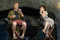 <p>The actors, who played Malfoy and Bellatrix Lestrange, were interviewed at in Diagon Alley at the Wizarding World of Harry Potter at Universal Orlando in June 2014.</p>