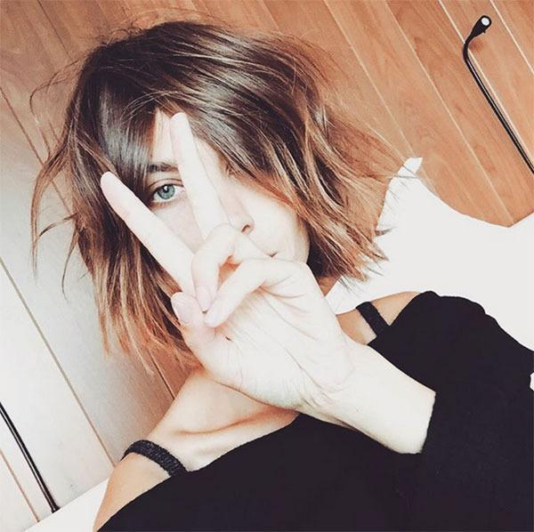 """<br>...She went and chopped it into the bob of our dreams! """"@georgenorthwood cut all my hair off so you don't have to. Short hair do care,"""" she wrote on Instagram."""
