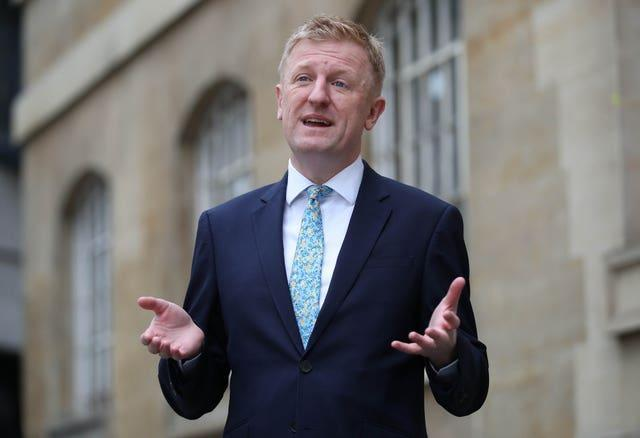 Culture Secretary Oliver Dowden said the UK Government turned down UEFA's request to bring 2,000 personnel into the country for the Champions League final (Yui Mok/PA)