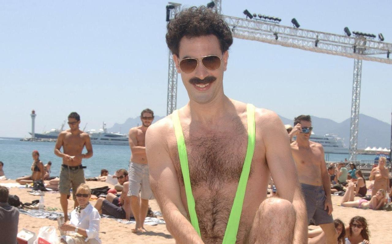 "Borat actor Sacha Baron Cohen has offered to pay fines for six tourists who were arrested for wearing the character's iconic 'mankini'.  The group of Czech tourists posed for pictures in Kazakhstan wearing nothing but mankinis, made famous by Mr Baron Cohen's character Borat Sagdiyev, a fictional Kazakh TV presenter who travels to the US to make a documentary. In the 2006 film, Borat: Cultural Learnings of America for Make Benefit Glorious Nation of Kazakhstan the eponymous character Borat walks around in a lime green mankini, a one-piece swimsuit for men. Baron Cohen in Borat Credit: Rex The group posed for photos in the capital city of Astana but were arrested for minor ""hooliganism"" and fined 22,500 tenge (£51) each for their ""indecent"" appearance. ""To my Czech mates who were arrested. Send me your details and proof that it was you, and I'll pay your fine,"" Mr Baron Cohen wrote on Facebook. Mr Baron Cohen won a Golden Globe award for his film Borat but it was initially banned in Kazakhstan. However in 2012, the country's foreign minister publicly thanked Baron Cohen for boosting tourism in the central Asian state Yerzhan Kazykhanov told politicians: ""With the release of this film, the number of visas issued by Kazakhstan grew tenfold. ""I am grateful to 'Borat' for helping attract tourists to Kazakhstan."" 'Mankinis' have become so popular since the film was released that in 2012 Newquay, in Cornwall, banned visitors from dressing in the costumes. The seaside town's police force said the thong-like male bathing suits were ""inappropriate"" clothing. Superintendent Julie Whitmarsh said: ""Mankini is what we term 'offensive clothing', so we won't accept people wearing them. They are just hideous. ""Is it just me, but if you were living in Bath for example, or Bournemouth, is that something you would wear to walk into town on a Saturday afternoon? No."" The mankini was also been banned at Wembley stadium ahead of a match between England and Kazakhstan."