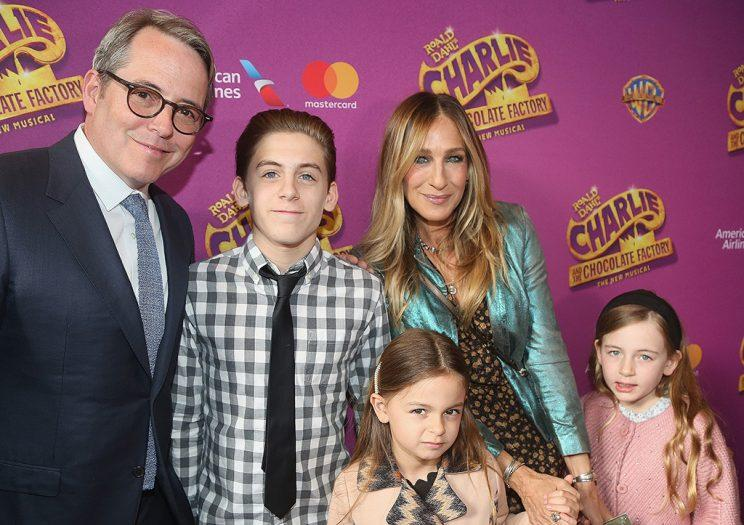 It was a family affair for Matthew Broderick and Sarah Jessica Parker, who brought their children -- James Wilkie Broderick, Tabitha Hodge Broderick, and Marion Loretta Broderick -- to the opening of the new Broadway musical