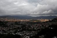 A general view shows storm clouds as Hurricane Iota approaches, in Tegucigalpa