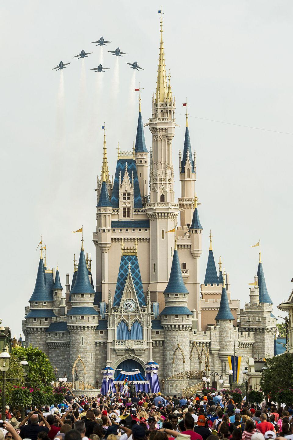 """<p>If you've ever been to Magic Kingdom, do you recall where the castle was located? Some, <a href=""""https://www.reddit.com/r/MandelaEffect/comments/3uyecb/disney_world_castle_at_front_of_the_park/"""" rel=""""nofollow noopener"""" target=""""_blank"""" data-ylk=""""slk:even one Orlando local on Reddit"""" class=""""link rapid-noclick-resp"""">even one Orlando local on Reddit</a>, clearly remembers it being the entrance to the park. </p>"""