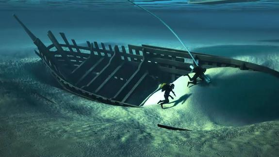 The ship had characteristic construction found in a medieval ship called a cog.