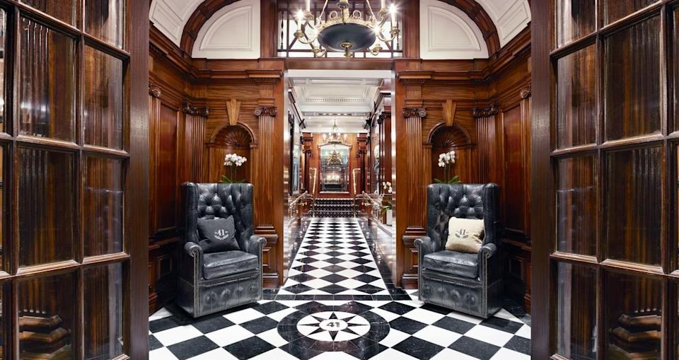 """<p>Just a stone's throw from Buckingham Palace in the heart of the capital, <a href=""""https://go.redirectingat.com?id=127X1599956&url=https%3A%2F%2F41hotel.com%2F&sref=https%3A%2F%2Fwww.redonline.co.uk%2Ftravel%2Fg504719%2Fboutique-hotels-london%2F"""" rel=""""nofollow noopener"""" target=""""_blank"""" data-ylk=""""slk:Hotel 41"""" class=""""link rapid-noclick-resp"""">Hotel 41</a> comprises of just 30 luxurious rooms and suites, complete with personal butler, 24-hour room service and staff who outnumber guests two to one. </p><p>It's no surprise that it was named the UK's best hotel by TripAdvisor for three years in a row. The epitome of decadent style, the chic black and white design of 41 is enriched by rich mahogany and exquisite furniture.</p><p> There's round-the-clock dining and complimentary treats in the residents-only Executive Lounge, as well as experiences such as champagne tasting and sushi workshops.</p><p><a class=""""link rapid-noclick-resp"""" href=""""https://go.redirectingat.com?id=127X1599956&url=https%3A%2F%2F41hotel.com%2F&sref=https%3A%2F%2Fwww.redonline.co.uk%2Ftravel%2Fg504719%2Fboutique-hotels-london%2F"""" rel=""""nofollow noopener"""" target=""""_blank"""" data-ylk=""""slk:CHECK AVAILABILITY"""">CHECK AVAILABILITY</a></p>"""