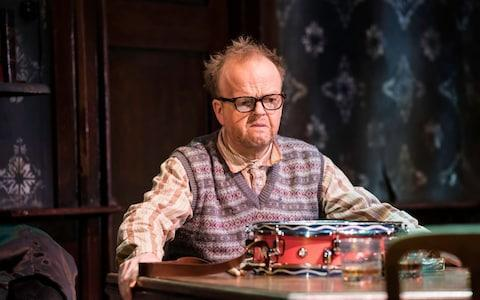 <span>Toby Jones in The Birthday Party</span> <span>Credit: Johan Persson </span>