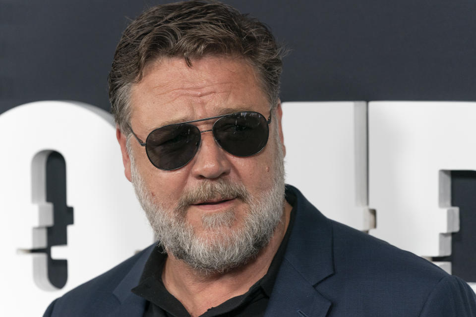 Russell Crowe attends Showtime network premiere of The Loudest Voice at Paris Theatre (Photo by Lev Radin / Pacific Press/Sipa USA)