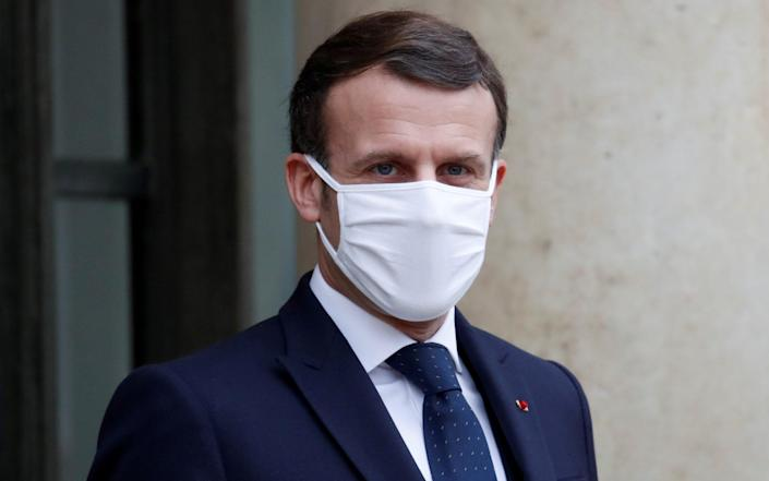 Emmanuel Macron has been criticised for claiming the Oxford-AstraZeneca jab appeared to be 'quasi-ineffective' in over-65s - Gonzalo Fuentes/Reuters
