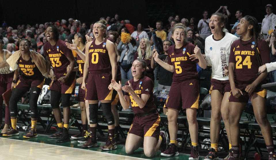 Best sport: women's basketball. Trajectory: Up. Like Tennessee, the Sun Devils hit a low in 2017 and have rebounded appreciably since, jumping up 12 spots in each of the past two years. This past year they cracked the Top 20 for the first time since 2013. Eleven sports scored 50 or more points, and there was a first-ever contribution from the successful start-up men's hockey program.