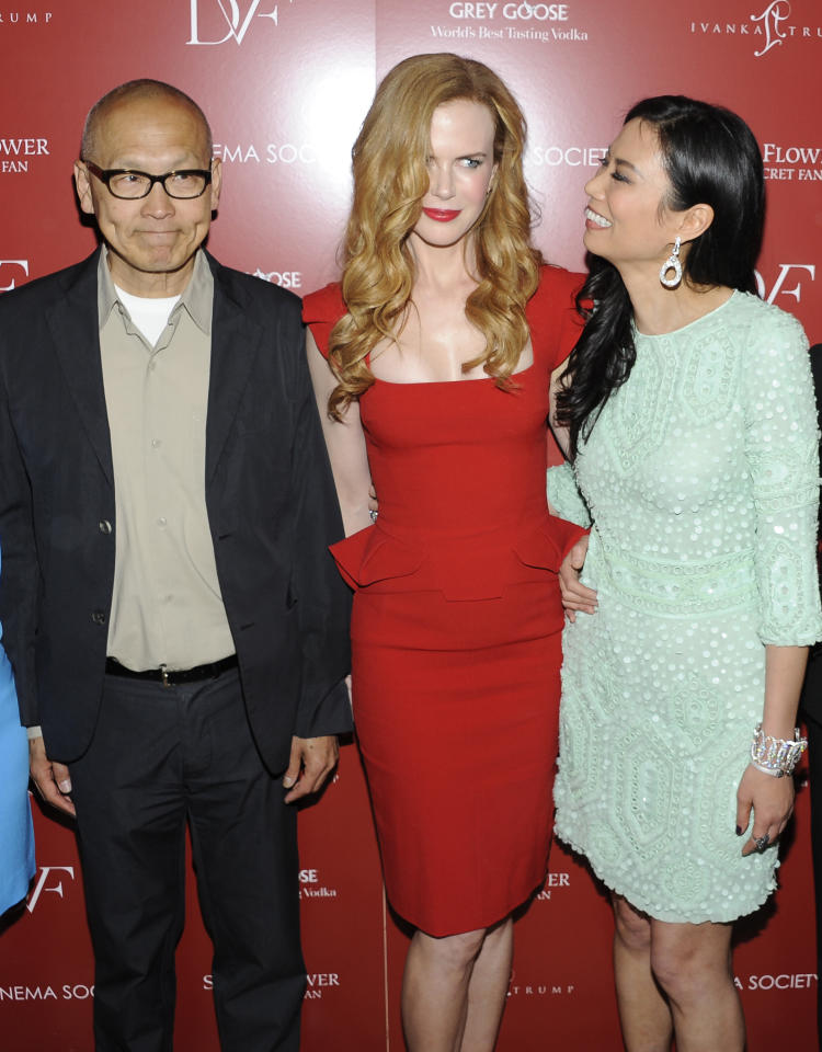 Director Wayne Wang, actress Nicole Kidman, and producer Wendi Murdoch attend a special screening of 'Snow Flower and the Secret Fan' hosted by the Cinema Society at the Tribeca Grand Hotel on Wednesday, July 13, 2011 in New York. (AP Photo/Evan Agostini)